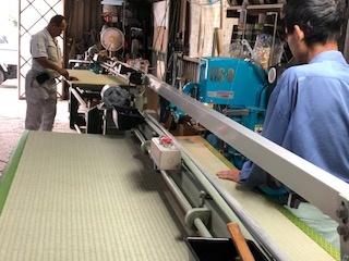 八木畳店作業風景